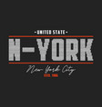 new york t-shirt design with knitted texture vector image vector image