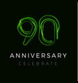 ninety anniversary poster for party 90th years vector image vector image