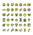 office business and finance icons vector image vector image