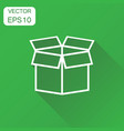 open box icon business concept shipping pack vector image