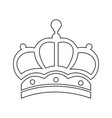 outline crown victorian royalty ornament object vector image