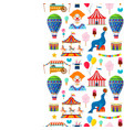 pattern with circus and amusement elements vector image vector image