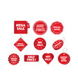 promotion tags vector image vector image