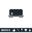 railroad tank icon flat vector image vector image