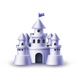 realistic castle fort fortress towers vector image