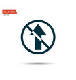 road sign icon directional arrow logo vector image