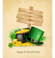 Saint Patricks Day background with a sign clover vector image vector image