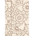 Seamless grunge pattern with stylized flowers vector image vector image