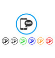 send phone sms rounded icon vector image vector image