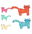 set cute cats in simple design for kids vector image vector image