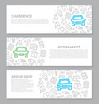 set of car service and auto repair vector image