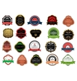 set promotion badges for retail business vector image
