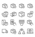 shipping delivery service icons set vector image vector image