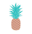 simple pineapple isolated on white flat style vector image