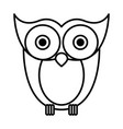 sketch silhouette image owl bird vector image vector image