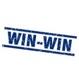 square grunge blue win-win stamp vector image vector image