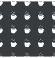 Straight black hot drink pattern vector image