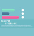 style business infographic collection vector image