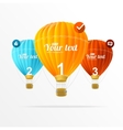 text boxes infographics and air balloons
