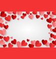 valentine day background with red hearts vector image vector image