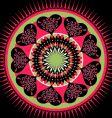 valentines mandala vector image vector image