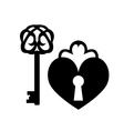 Vintage keys and keyhole vector image