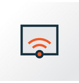 wifi colorful outline symbol premium quality vector image