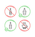 wine champagne and scotch bottle icons set vector image vector image