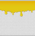 yellow dripping slime seamless element vector image