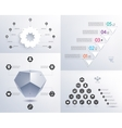 set of infographics 3d shape pyramid vector image