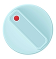 Turn control knob icon cartoon style vector image