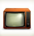 TV set retro vector image