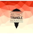 Abstract red triangle pattern vector image