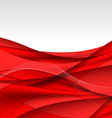 Abstract red waves - data stream concept vector image vector image