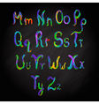 Alphabet multicolored vector image