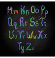 Alphabet multicolored vector image vector image