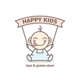 baby logotype Toys and games store logo in vector image vector image
