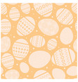 beige easter seamless pattern with eggs vector image vector image
