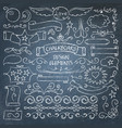big collection of chalkboard elements vector image vector image