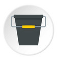 black bucket icon circle vector image vector image