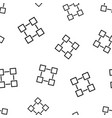 Blockchain technology icon seamless pattern