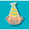 boy party hat cartoon vector image vector image