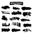 Brush strokes set vector image vector image