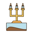 celier candles ornament wedding icon vector image