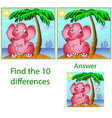 childrens visual puzzle find ten differences in vector image vector image