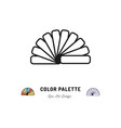 color palette icon pantone colors interior vector image