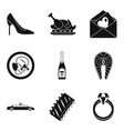 consume icons set simple style vector image vector image