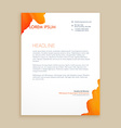 creative ink design letterhead vector image vector image