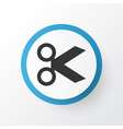 cut icon symbol premium quality isolated scissors vector image