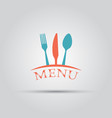 cutlery isolated colored menu logo template vector image vector image